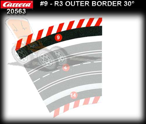 CARRERA BORDERS 20563 - Outside Border for R3/30 deg