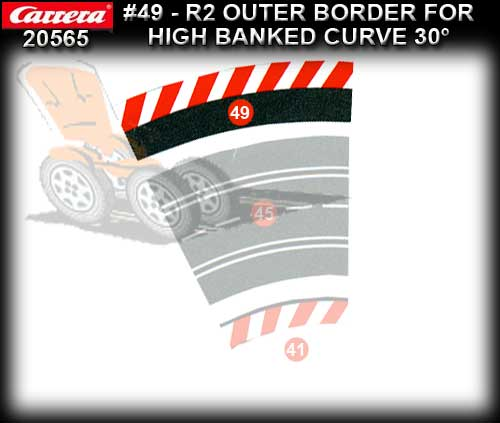 CARRERA BORDERS 20565 - Outside Border High Bank Curve R2/30 deg