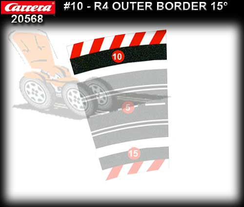 CARRERA BORDERS 20568 - Outside Border for 4/15 deg