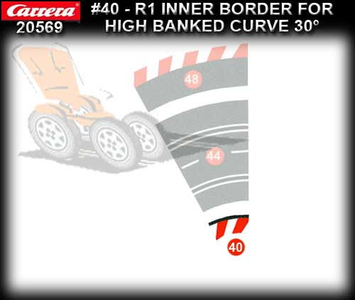 CARRERA BORDERS 20569 - Inside Border High Banked Curve R1/30deg