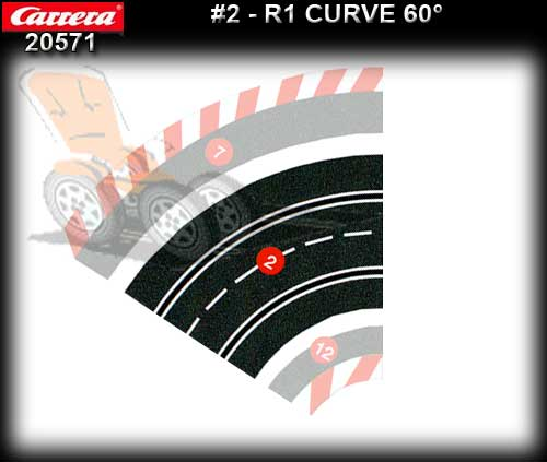 CARRERA TRACK 205711 - Curve R1 / 60 degree - single piece