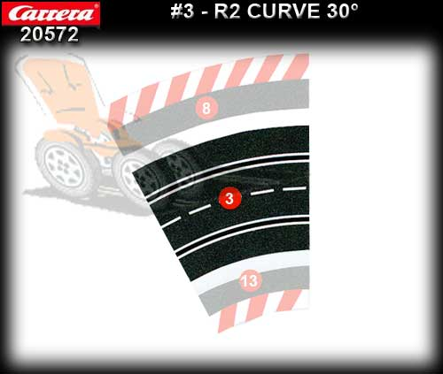 CARRERA TRACK 205721 - Curve R2 / 30 degree - single piece