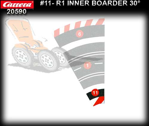 CARRERA BORDERS 20590 - Inside Border for R1/30 degree
