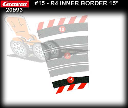 CARRERA BORDERS 20593 - Inside Border for R4/15 deg