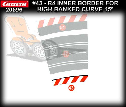CARRERA BORDERS 20596 - Inside Border High Banked Curve R4/15deg