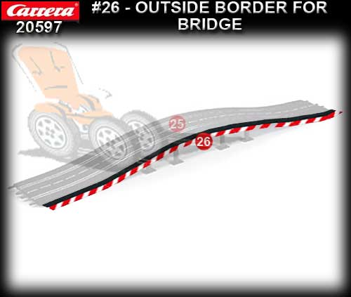 CARRERA TRACK 20597 - Outside Shoulder for bridge