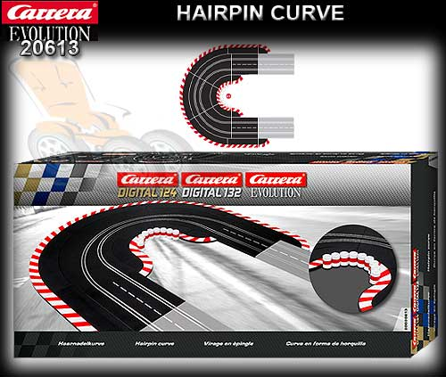 CARRERA TRACK 20613 - Hairpin Curve set 1/60 degree (19 pieces)