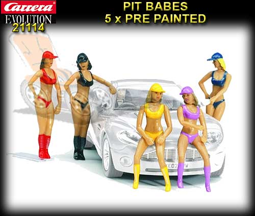 CARRERA SCENERY 21114 - Set of 5 figures - Pit Babes