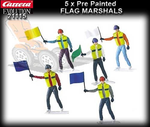CARRERA SCENERY 21115 - Set of 5 figures - Flag Marshalls