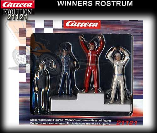 CARRERA SCENERY 21121 - Winners Podium with 4 figures