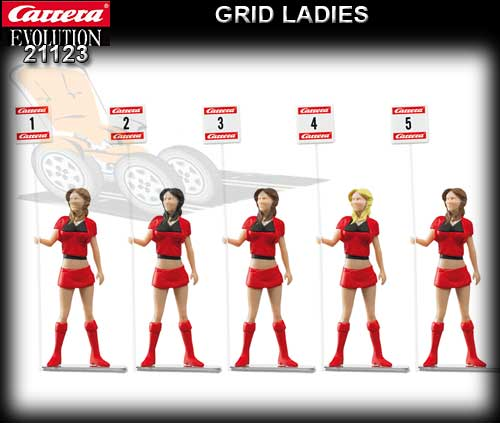 CARRERA SCENERY 21123 - Set of 5 figures - Grid Ladies