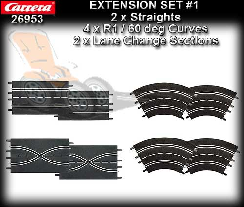 CARRERA TRACK 26953 - Extension Set 1 (8 pieces)