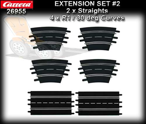 CARRERA TRACK 26955 - Extension Set 2 (6 pieces)