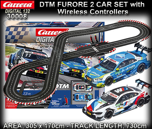 CARRERA DIGITAL 132 SET 30008 - DTM Furore set - 7.3m