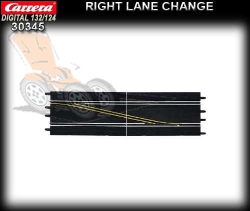 CARRERA D132/124 30345 - Right Lane Change Over