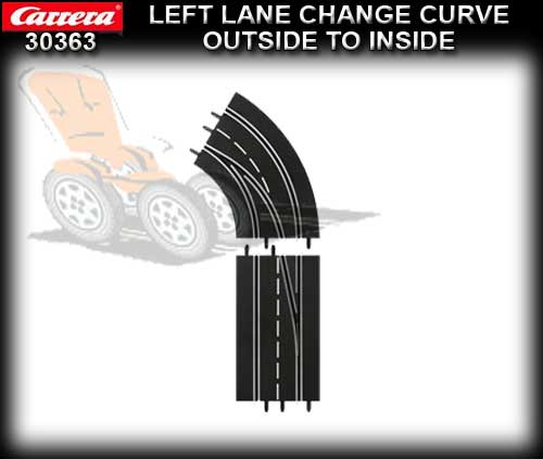 CARRERA D132/124 30363 - Left Lane Curve Outside to Inside