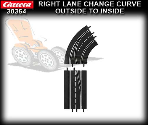 CARRERA D132/124 30364 - Right Lane Curve Outside to Inside