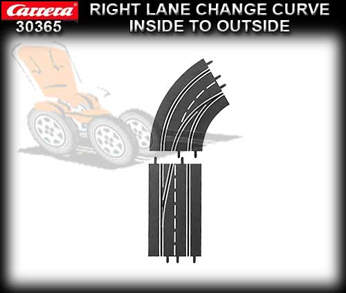 CARRERA D132/124 30365 - Right Lane Curve Inside to Outside