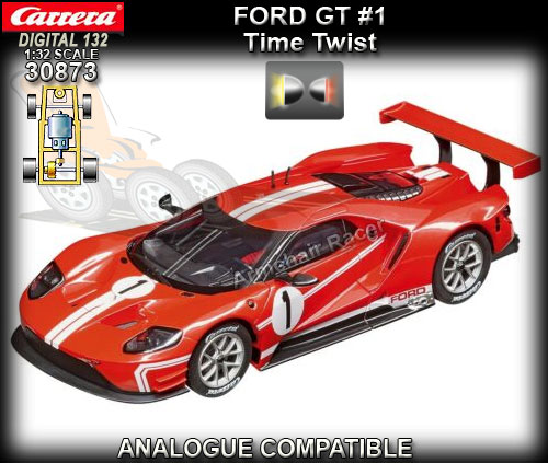 CARRERA DIGITAL 132 30873 - Ford GT (red) - Time Twist #1
