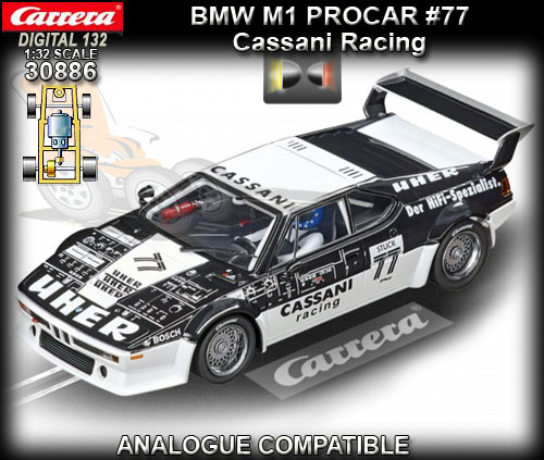 CARRERA DIGITAL 132 30886 - BMW M1 Procar - Cassani Racing #77