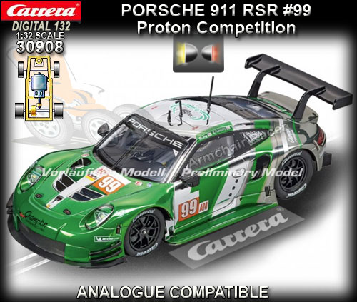 CARRERA DIGITAL 132 30908 - Porsche 911 RSR - Proton Competition