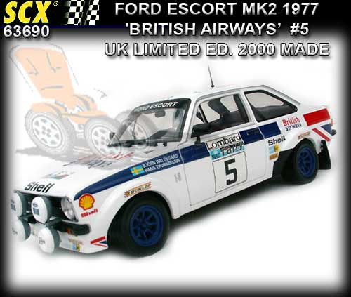 SCX 63690 - Ford Escort MK2 1977 #5 'clean' UK LTD. ED.