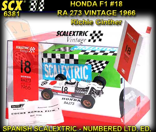 SCX 6381 - Vintage Honda F1 RA273 - Richie Ginther 1966