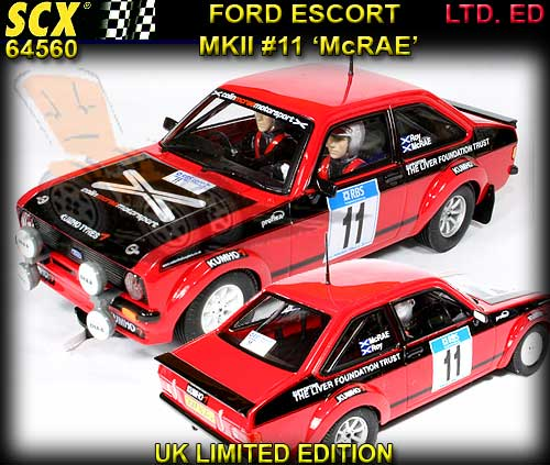 SCX 64560 - Ford Escort MKII- Colin McRae #11 UK LTD. ED.