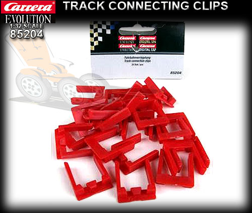 CARRERA 85204 - Evolution Track Connection Clips x 24 pieces