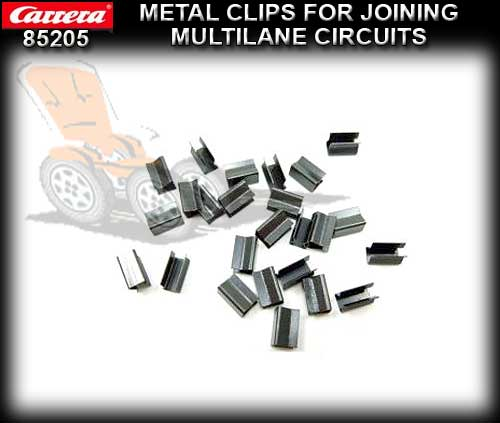 CARRERA TRACK 85205 - Metal Clips Multilane extentions