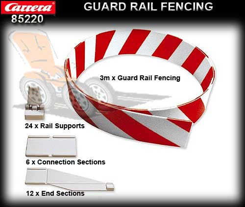 CARRERA TRACK 85220 - Guard Rail Fencing Set 3 metre