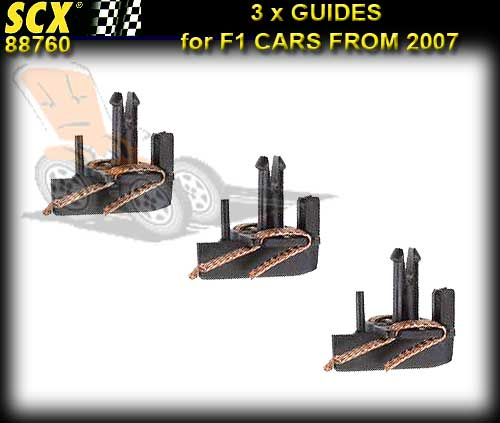 SCX GUIDES 88760 - ARS Guides with braid x 3 F1 cars from 2007