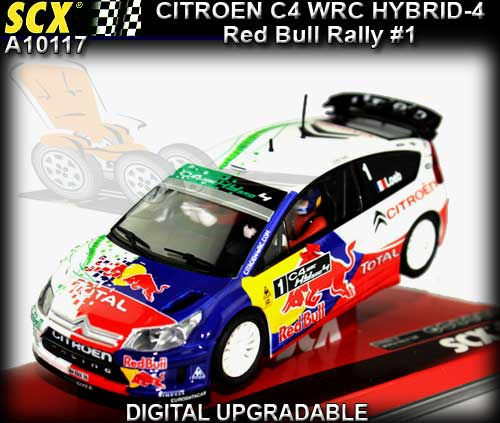 SCX A10117 - Citroen C4 WRC hybrid rally concept car Red Bull #1