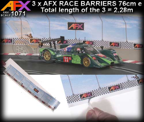AFX TRACK 1071 - Race Barriers x 3 (30in/76cm each) sections
