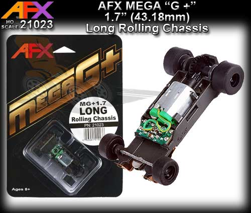 "AFX 21023 - MEGA G+ Long Rolling Chassis - for 1.7"" wheelbase"