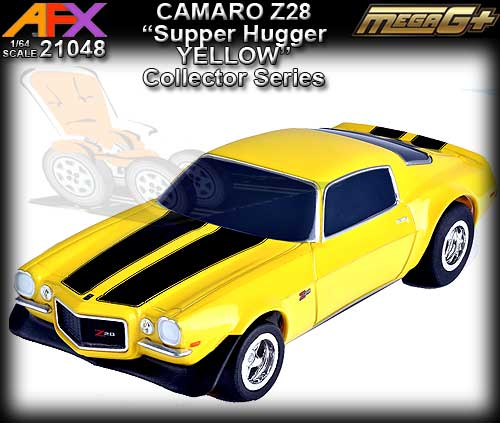 AFX HO 21048 - Chevrolet Camaro Z28 - Yellow/Black stripes