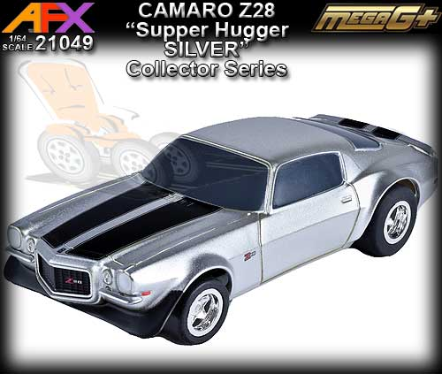 AFX HO 21049 - Chevrolet Camaro Z28 - Silver/Black stripes