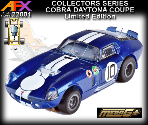 AFX HO 22001 - Collector Series - Shelby Cobra Daytona - blue