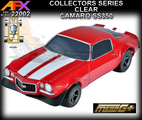 AFX HO 22002 - Camaro SS-350 - red with white stripes