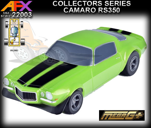 AFX HO 22003 - Camaro RS-350 - green with black stripes