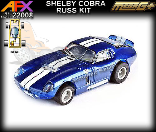 AFX HO 22008 - Collector Series - Shelby Cobra Russkit - blue