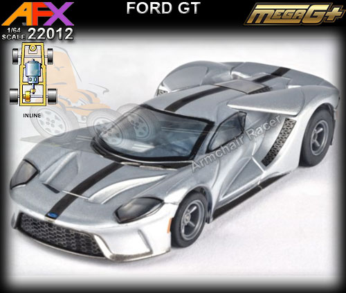 AFX HO 22012 - Ford GT (silver with dark grey stripe)