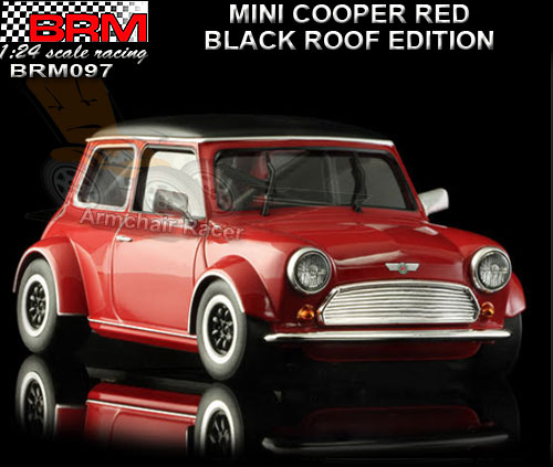 BRM 1:24 BRM097 - Mini Cooper - Red with Black Roof