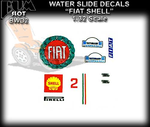 BUMSlot DECALS BWD2 - 1:32 Scale Decals FIAT & SHELL