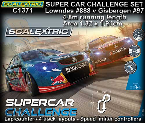 SCALEXTRIC SPORT SET C1371 - SUPERCAR CHALLENGE - Track 4.84m