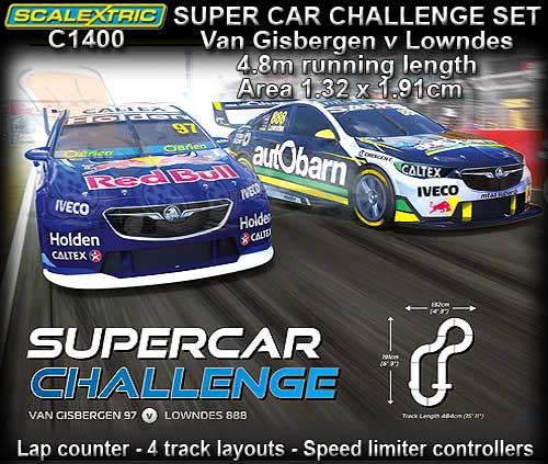 SCALEXTRIC SPORT SET C1400 - SUPERCAR CHALLENGE 2018 Track 4.84m