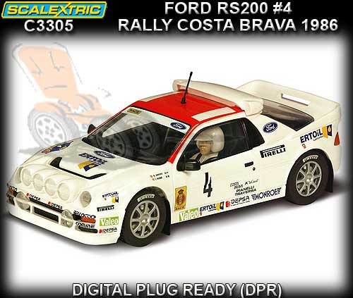 SCALEXTRIC C3305 - Ford RS200 #4 Rally Costa Brava 1986