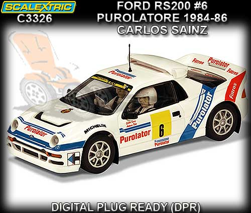 SCALEXTRIC C3326 - Ford RS200 #6 1984 - 1986 Carlos Sainz