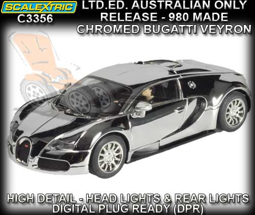 SCALEXTRIC C3356 - Aus Limited Edition - Chromed Bugatti Veyron