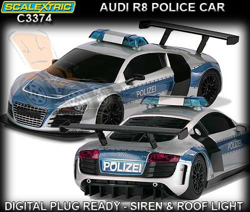 SCALEXTRIC C3374 - Audi R8 Police Car - DUE 2013